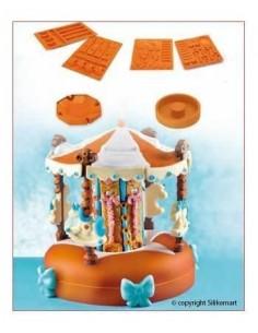 SILIKOMART WONDER CAKE CAROUSEL SET 4 STAMPI GIOSTRA