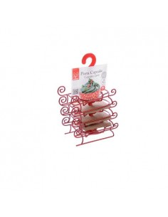 KIT SLITTA PORTA MUFFIN 4 PZ IN METALLO NATALE MODECOR