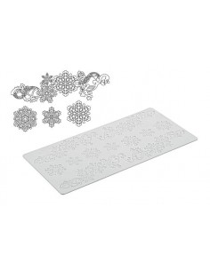 Tappetino in Silicone per Pizzi Tricot Deco Snowflakes Silikomar