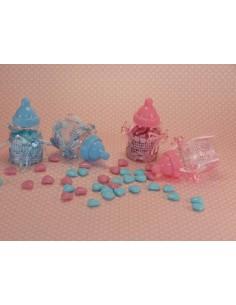 Biberon porta confetti rosa