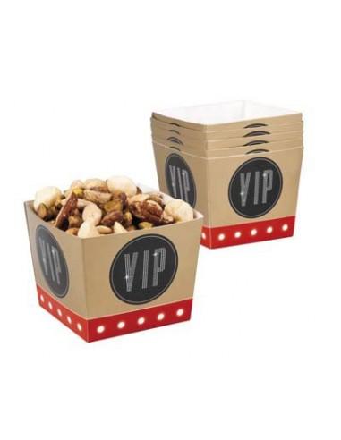 Set 6 Bowls Vip Contenitore Pop Corn Caramelle Mallow
