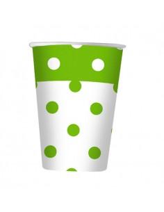 10 Bicchieri 200 cc Pois Verde Mela