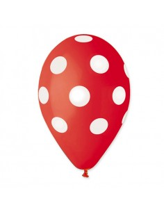 10 Palloncini Pois Rosso