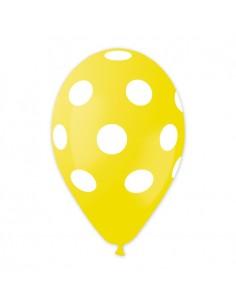 10 Palloncini Pois Giallo