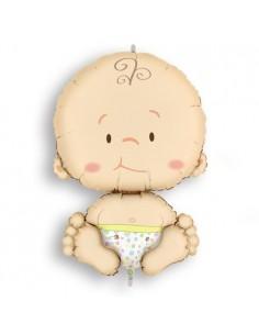 Pallone  Mylar Baby h 80×52 cm gonfiabile ad elio Benvenuta Benvenuto