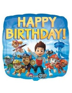Pallone  Mylar Paw Patrol Happy Birthday Foil feste Decorazioni