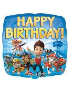 Pallone  Mylar Paw Patrol Happy Birthday Foil feste Decorazioni