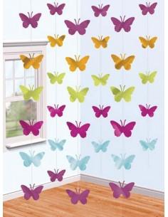 Festone Farfalle Set 6 Pendenti h210 cm Butterfly