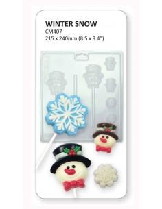 STAMPO CIOCCOLATTINO WINTER SNOW CANDY MOULDS PME