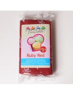 PASTA DI ZUCCHERO RUBY RED Da 250 Gr FUNCAKES