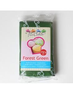 PASTA DI ZUCCHERO FOREST GREEN Da 250 Gr FUNCAKES