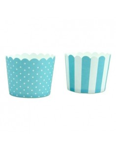 12 WRAPPERS PER CUPCAKES MUFFIN VERDE TIFFANY IN CARTA FORNO