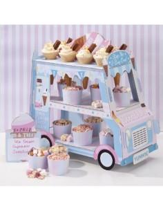 Alzata per dolci a forma di Camioncino dei Gelati Ice Cream Van Stand