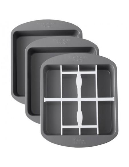 Teglia Stampo per torte Scacchiera Quadrata Wilton Checkerboard Square Cake Set