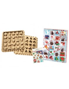 STAMPO IN SILICONE CREATIVE XMAS COUNTDOWN CALENDARIO DELL'AVVEN