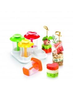 Tescoma Presto Foodstyle Forma Stuzzichini A Strati Presto 4 Forme, Plastica, Multicolre, 10.5X7.5X15 Cm