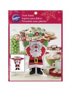 Wilton - Alzata Supporto per biscotti Babbo Natale, multicolore