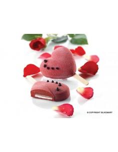 Stampo in silicone cuore su stecco gelati,semifreddi ,san valentino GEL03 Heart-ic