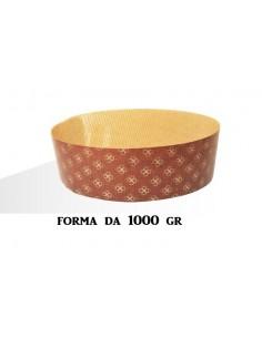 5 x Stampo per PANETTONE 1000 gr Basso in Carta Forno Monouso - ideale per Panettoni, Panettone Gastronomico, Canasta