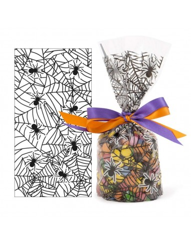 20 Sacchetti in plastica Spider Ragnatela Halloween per caramelle dolciumi