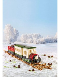 SILIKOMART - SET STAMPI IN SILICONE MAGIC TRAIN A+B NATALE