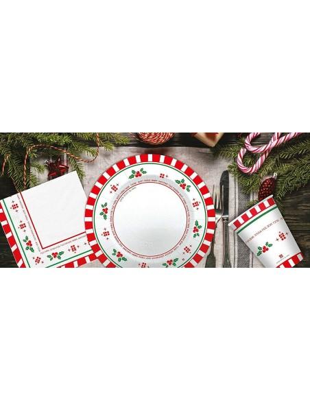 Set TOVAGLIA con TOVAGLIOLI in Tessuto Simile A Stoffa Fantasia Lanterne Nocciola  Natale Capodanno