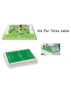 Kit per Torte Calcio Ostia Campo di Calcio con Set Giocatori 7 Pezzi