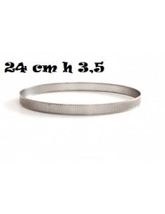 SAGOMA ANELLO MICROFORATA 24 CM H 3,5 CERCHIO
