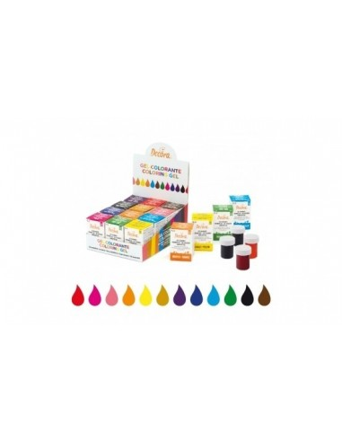 8 COLORANTI WILTON ALIMENTARI DA 28 GR IN GEL