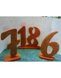 """Numeri in polistirolo""""Arancione"""""""