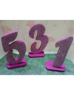 "Numeri in polistirolo ""fuxia"""