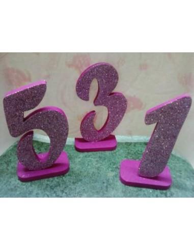 Numeri in polistirolo per torte