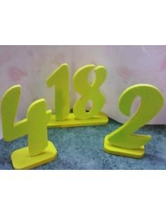 "Numeri in polistirolo""giallo"""