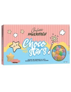 CONFETTI MAXTRIS CHOCO STARS ROSA– 500 GR