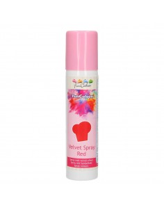 FunCakes FunColours Velvet Spray Rosso Red 100ml spray Vellutato