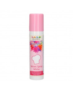 FunCakes FunColours Velvet Spray Bianco White 100ml spray Vellutato