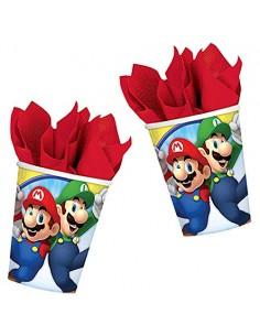 8 Bicchieri Mario Bros
