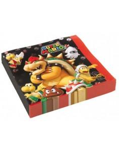 """16  Tovaglioli """"Mario Bros"""""""
