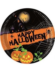 8 Piatti Cm 18 Happy Halloween