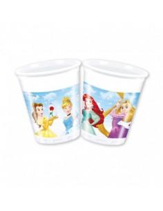 8 Bicchieri Principesse Disney