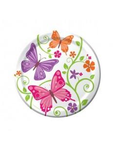 8 piatti cm 22 Butterfly...