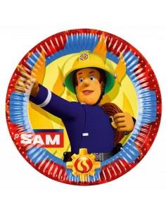 8 Piatti cm 23 Sam Il Pompiere