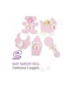 Baby Benvenuto Rosa 5 Pezzi
